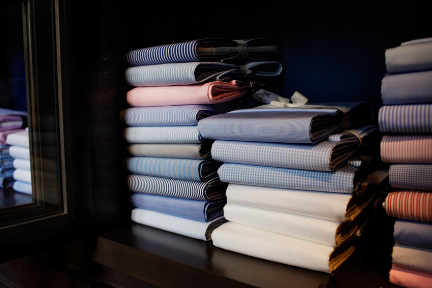 Italian shirt fabric - Phototography by Charles David for ©Styling The Man